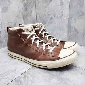 Converse Allstar Hightops Brown Leather - Size 13